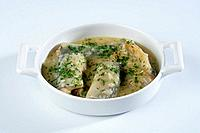 Eel and onion casserole