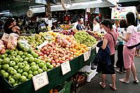 People on Fremantle Markets (since 1897), Fremantle, Perth, Western Australia