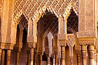 Courtyard of the Lions, Alhambra. Granada, Andalusia, Spain