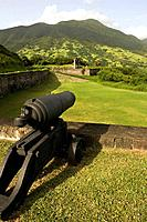 Brimstone Hill Fortress on the island of St Kitts, Dutch Caribbean