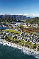Greymouth, West Coast, South Island, New Zealand - aerial