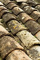 Tiles on a provencal roof