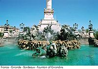 France _ Gironde _ Bordeaux _ Fountain of Girondins