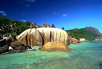 The Seychelles _ Digue Island _ Anse de la Source d'Argent