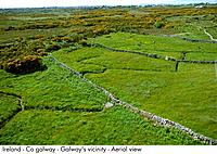 Ireland _ Co galway _ Galway's vicinity _ Aerial view