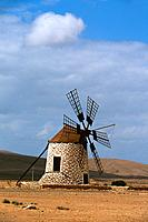 Spain _ Canary Islands _ Fuerteventura _ Windmill of Tefia