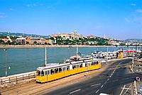 Hungary _ View of Buda with the Royal Castle and Tramway