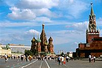 Russia _ Moscow _ Red Place _ St Basile the Blessed _ Lenin's Mausoleum