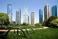 Park, Skyline, Lujiazui Gongyuan, Pudong, Shanghai, China, Asia