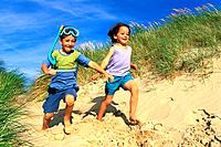 Beach _ Young Boys in the Dune
