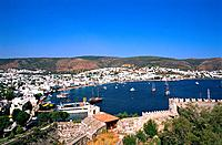 Turkey _ Mediterranean Coast _ Mugla Region _ Bodrum _ View from St Peter Castle