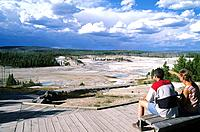USA _ National Park _ Yellowstone _ Norris Geyser