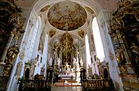 Germany _ Bavaria _ Oberammergau _ Baroque Church