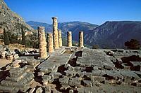 Greece _ Central Greece _ Delphi _ Apollon´s Temple