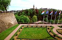 Luxembourg _ Luxembourg City _ Ramparts facing the Petrusse valley