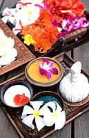 Spa _ Products,creams and flowers