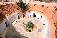 Tunisia _ The South _ Jebel Dahar Region _ Matmata _ troglodytic house