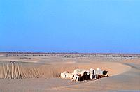 Tunisia _ South _ Chott el Jerid Region _ Nefta Surroundings _ Onk Jemel Site _ Movie scenery _ Starwars