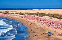 Spain - Canary Islands - Gran Canaria - South Coast - Maspalomas - Playa del Inglés (thumbnail)