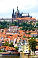 Czech Republic _ Prague _ Mala Strana Prague 1 District _ View of Hradcany and the royal castle