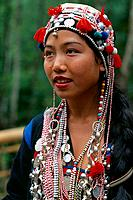China _ Yunnan _ Xishuangbanna _ Mang Mo Village _ Young Aini girl