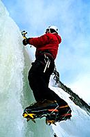 Canada _ Quebec _ Quebec city _ The Montmorency waterfall _ Ice climbing