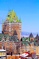 Canada _ Quebec _ Old Quebec _ Upper town _ District of Petit Champlain _ The Frontenac Castle