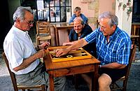 Greece _ Crete _ Coffeehouse _ Draughts player