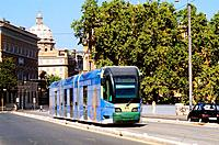 Italy _ Rome _ Trastevere district _ Tramway
