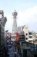 Japan _ The west of Honshu _ Osaka _ Tsutenkaku Tower
