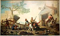 The quarrel in the new tavern. 1777. Francisco de Goya. Prado Museum. Madrid. Spain