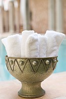 Towels in a bowl
