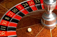 Roulette wheel and ball