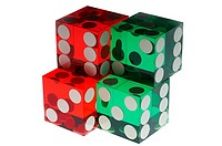 Red and green dice