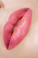 Close up of womans lips