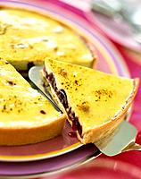 Cherry and lemon tart
