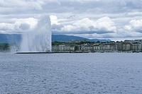 Fountain,Lake Leman,Geneva,Switzerland