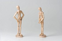 Two Human figurine, close_up