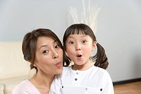 Mom and Daughter,Korea