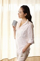 Woman Drinking Coffee,Korea