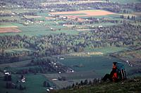 A man hiking above Parkdale oregon