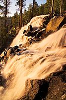 Blurry Eagle Falls at dawn on Lake Tahoe in California