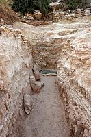The Judean mountains Israel A rock_hewn water system dating back to the time of King Hezekiah from the eighth century BC found in 2005 by Kibbutz Tzub...