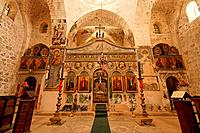 Israel Jerusalem The Greek Orthodox Monastery of the Holy Cross at the Valley of the Cross interior of the Church