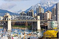 Burrard Street Bridge, English Bay, Vancouver, BC, Canada