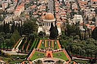 Israel Carmel The Bahai Shrine and gardens in Haifa