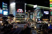Japan, Tokyo, Shibuya, business_buildings, neon signs, streets scenery, pedestrians, evening, series, Asia, East_Asia, Honshu, city, city, metropolis,...