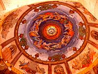 Italy, Tuscany, Montecatini Terme, Terme Tettuccio, dome, ceiling painting, health resort, spas, thermal_installation, thermal_baths, thermal_sources,...