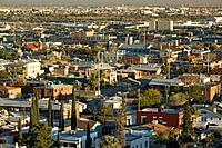 usa, Texas, El Paso, city view, panorama, evening_mood