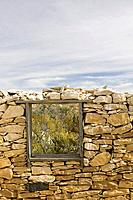 usa, Texas, Terlingua, buildings, stone_wall, windows, ghost_city, close_up